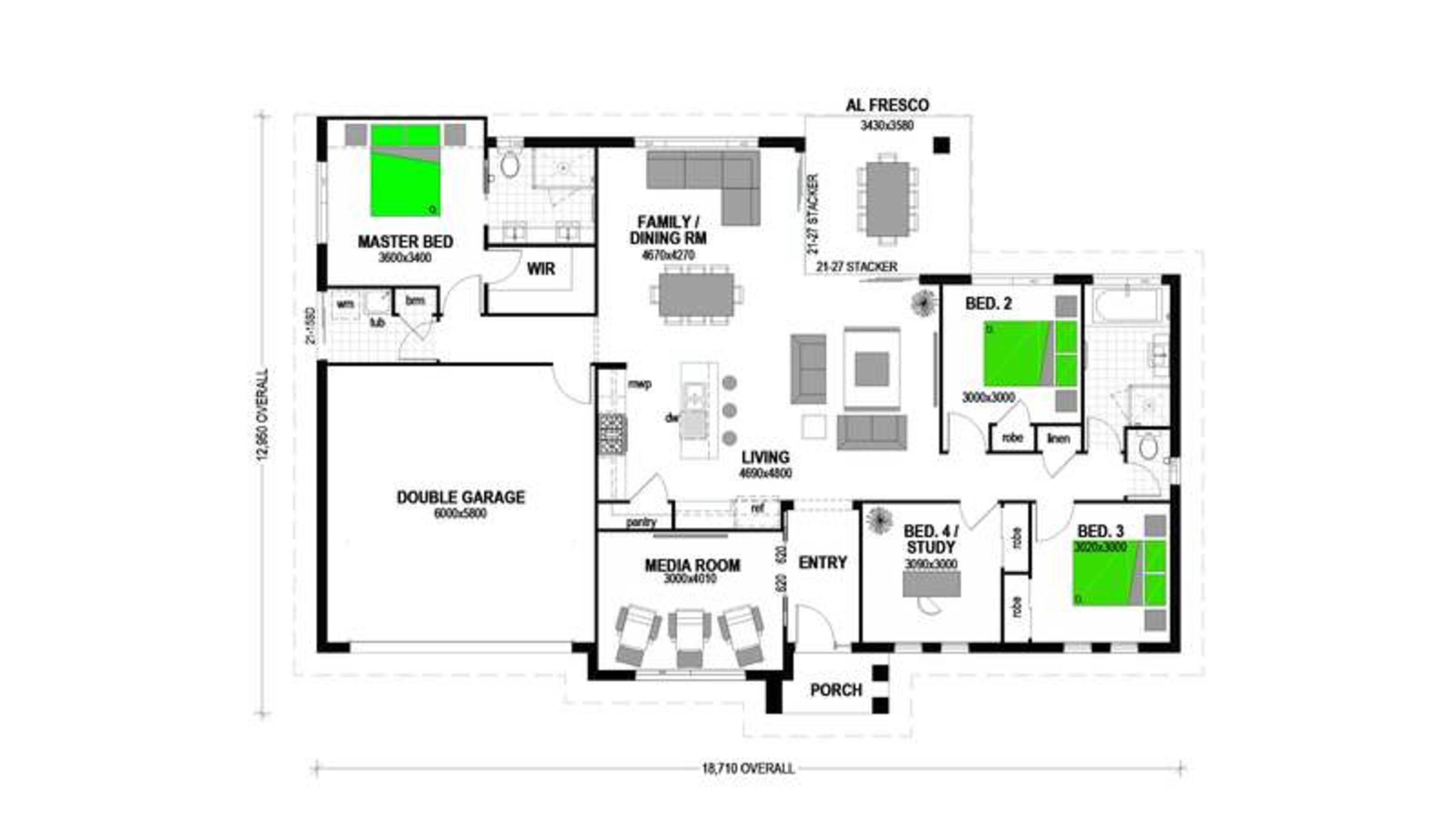 LOT 133 'RIVER GLEN ESTATE' FERNVALE Floorplan