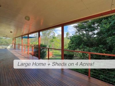 BIG FAMILY HOME + SHEDS on 4 ACRES!