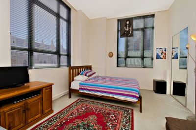 Affordable 41sqm Studio with Secure Parking in converted warehouse building.