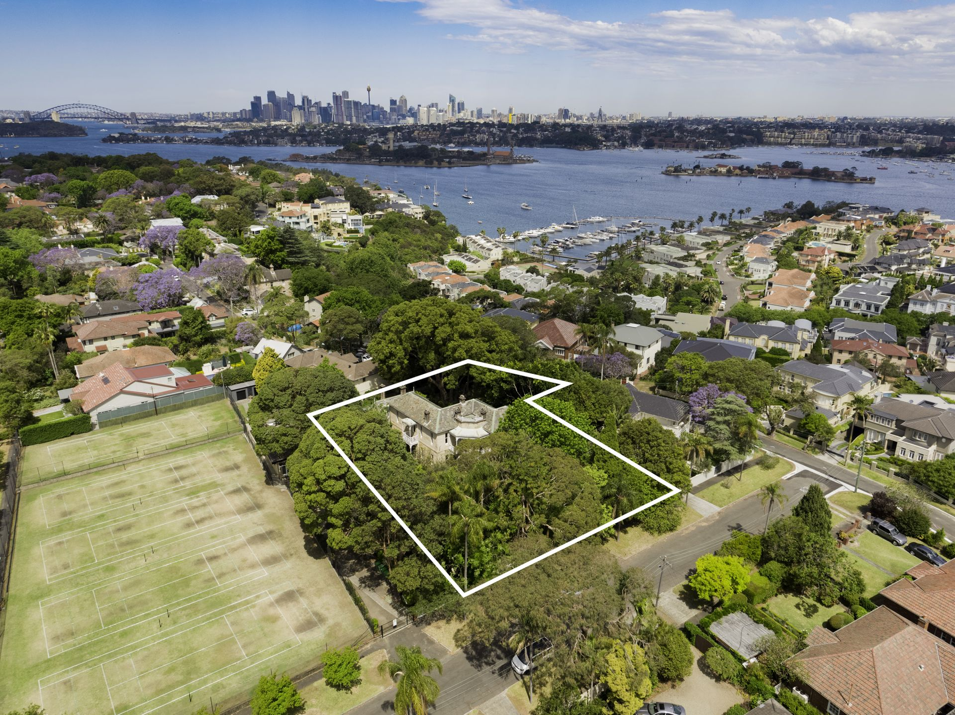 Additional photo for property listing at 'Wybalena' 2,340sqm landholding 3 Jeanneret Avenue Hunters Hill, New South Wales,2110 Австралия
