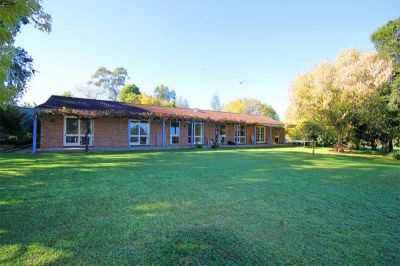 sold by in conjunction real estate. picturesque block with pretty single-level home; park-like acres; fabulous close-in location and serenely private.