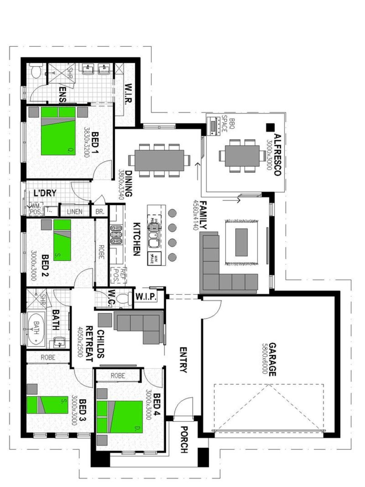 LOT 1205 'BRENTWOOD FOREST' BELLBIRD PARK Floorplan