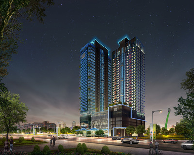 Diamond Twin Tower, Tonle Bassac, Phnom Penh | New Development for sale in Chamkarmon Tonle Bassac img 0