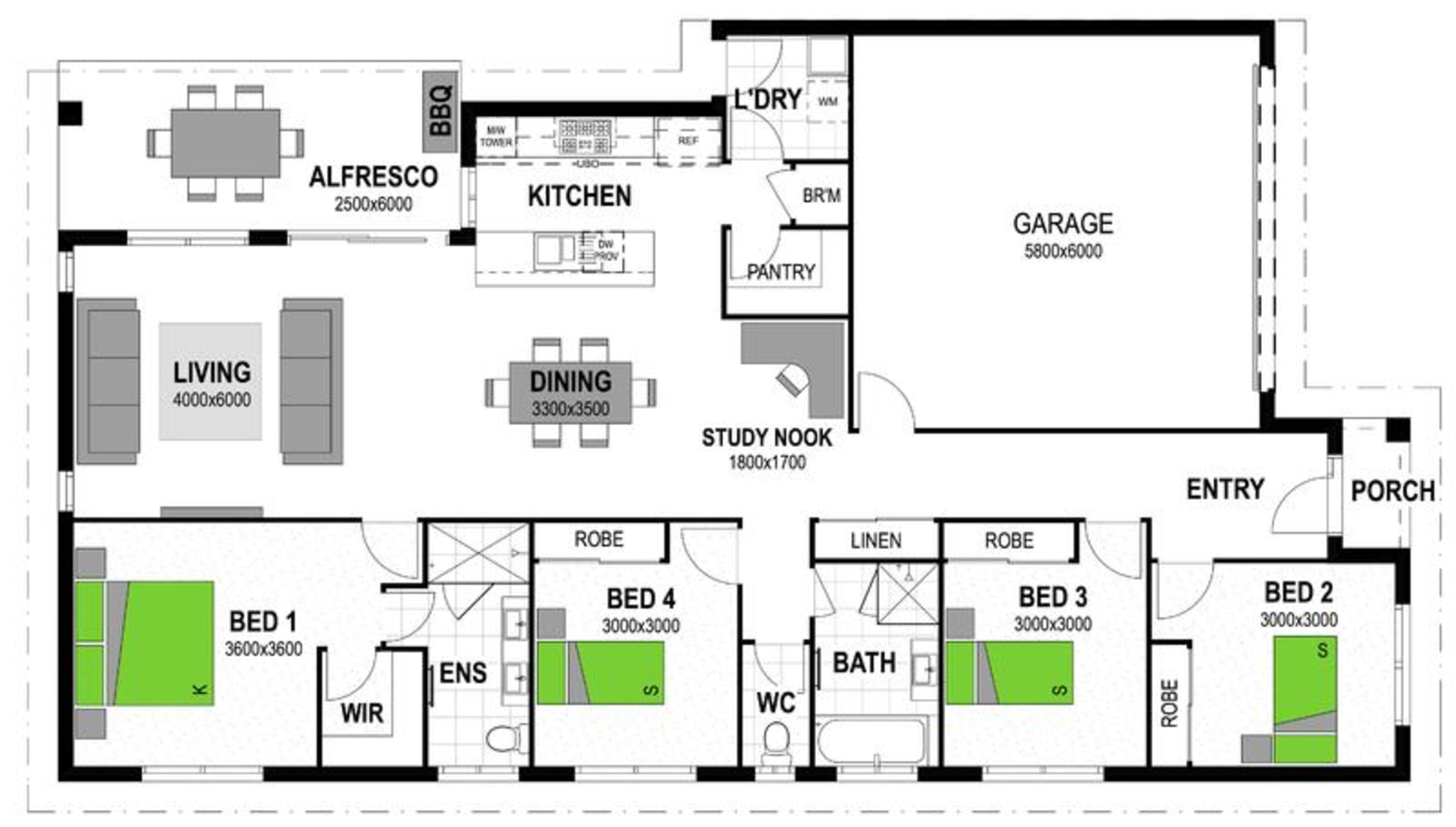 LOT 94 'MONTEREA ESTATE' RIPLEY Floorplan