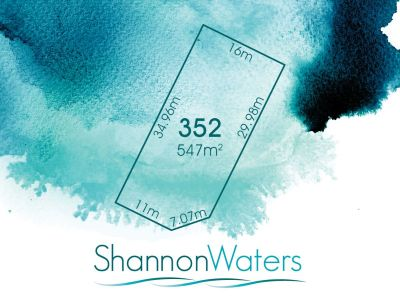 LOT 352, WHISTLER DRIVE, SHANNON WATERS