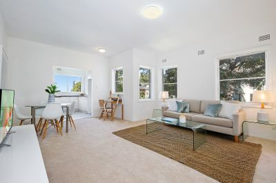 Generous refreshed apartment, boutique living with CBD views