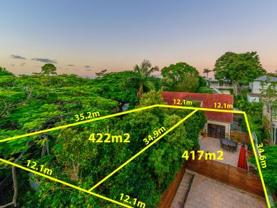 Bardon's Best Kept Secret on 840m2 over 2 Lots