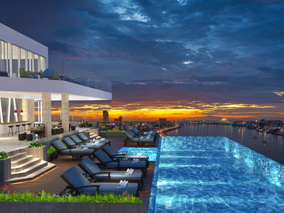 The Penthouse Residence, Tonle Bassac, Phnom Penh | Condo for sale in Chamkarmon Tonle Bassac img 2