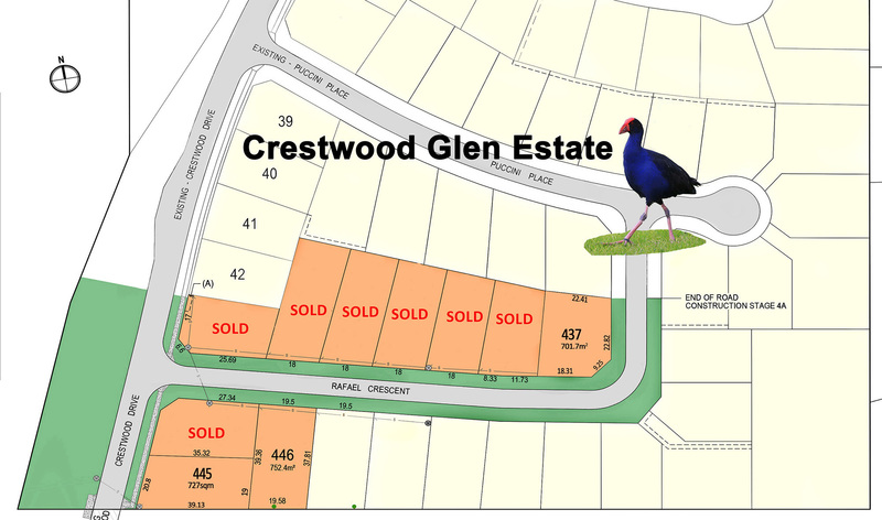 New Land Release – Crestwood Glen Estate – Now Selling