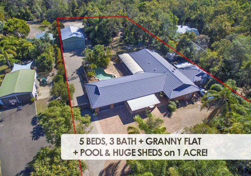 5 BEDS + GRANNY FLAT & 6 BAY SHEDS on 4,003m2!!
