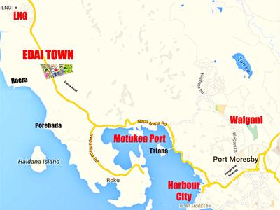 Edai Town Map