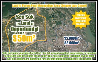 Teuk Thla, Phnom Penh   Land for sale in Sen Sok Teuk Thla img 2