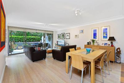 Luxury garden apartment, sought after village-side living