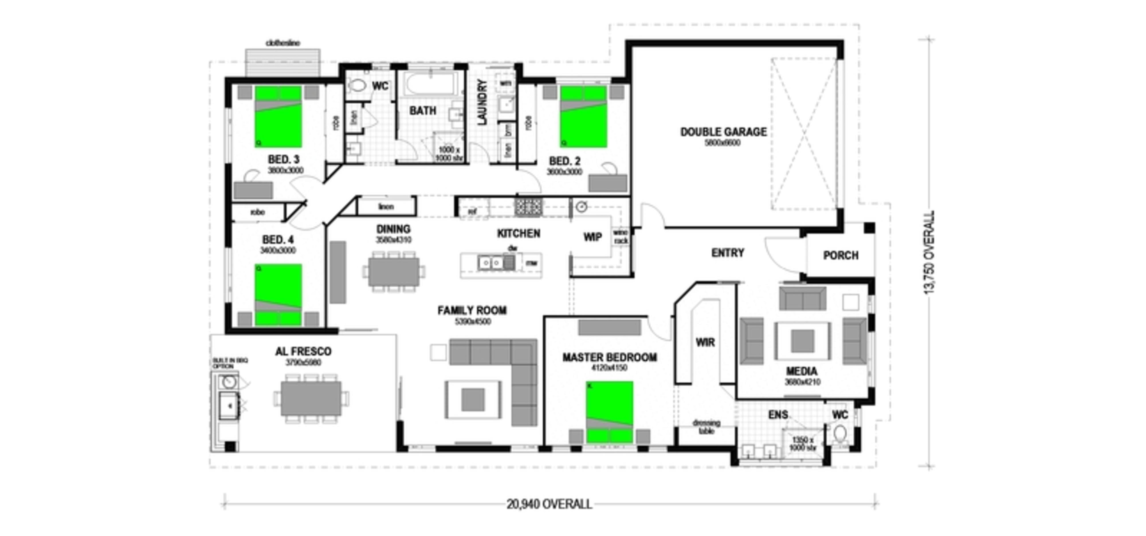 "LOT 4 ""THE HABTIAT"" BRANYAN Floorplan"