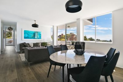 Sunlit Designer Interiors, Expansive District Views