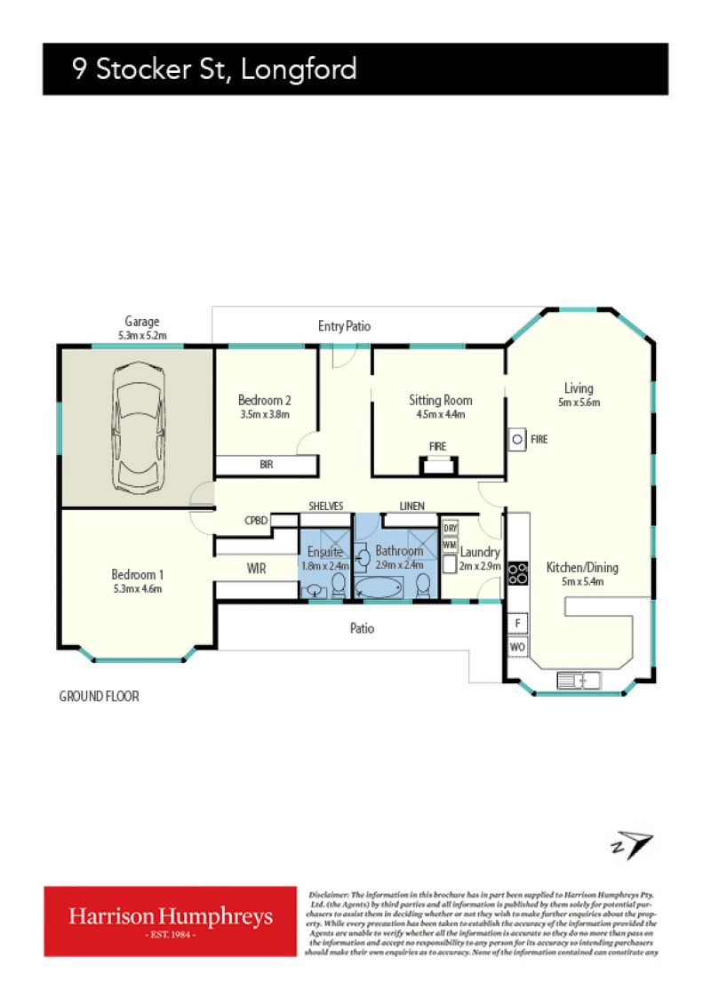 9 Stocker Street Floorplan