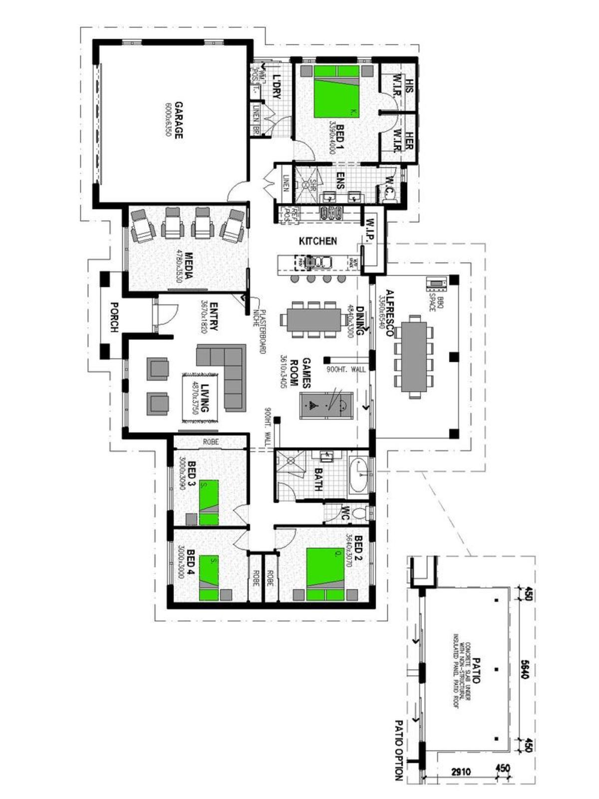 LOT 151 'THE CROSSING' KARALEE Floorplan
