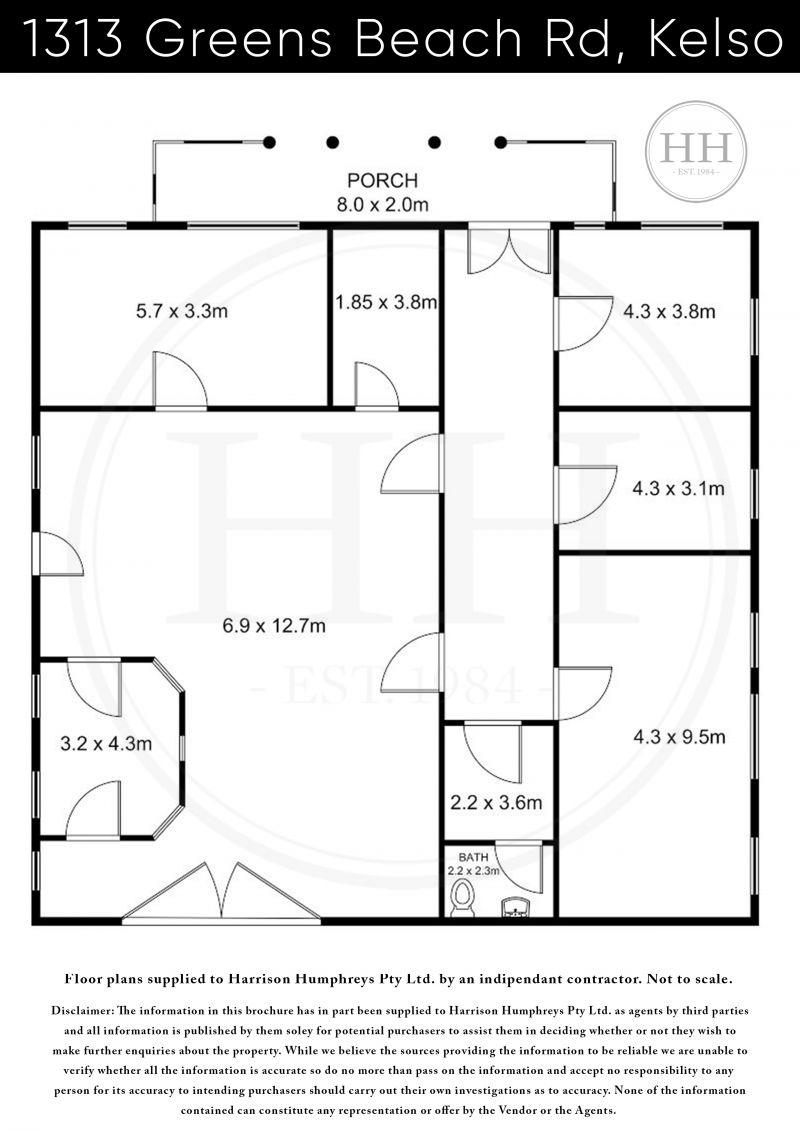 1313 Greens Beach Road Floorplan