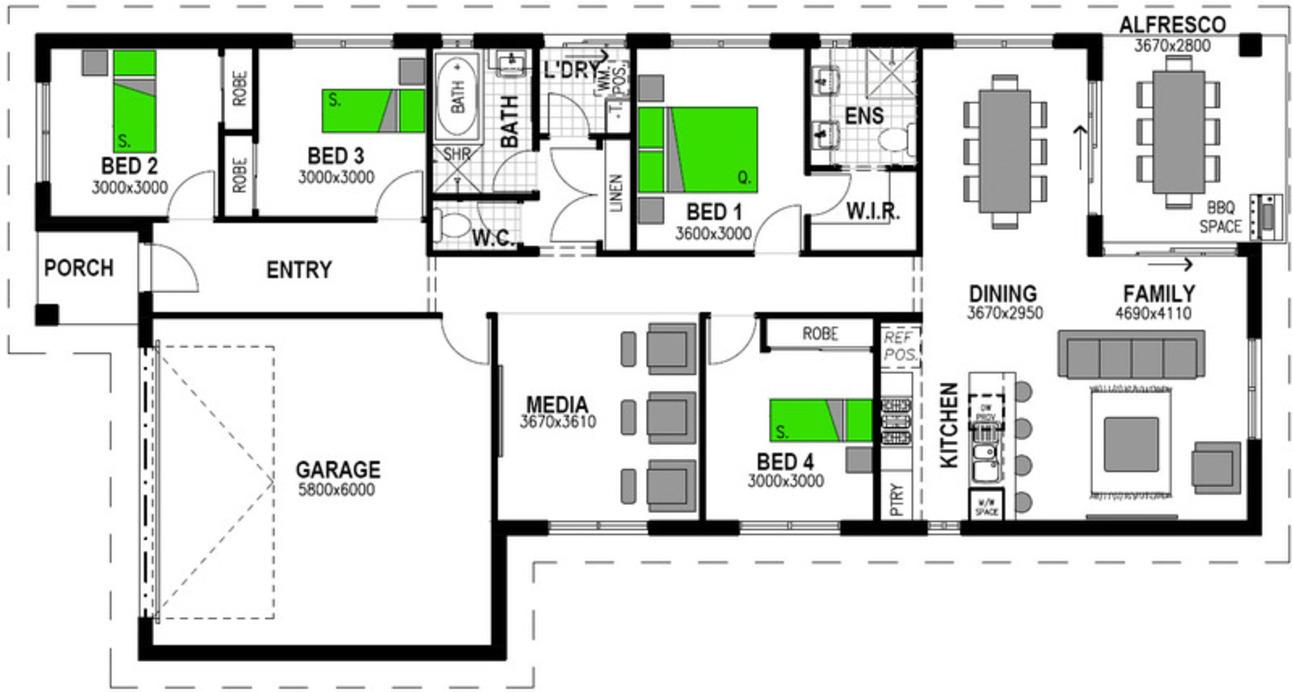 LOT 6 'KINGSFIELD ESTATE' RIVERVIEW Floorplan