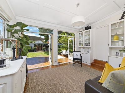 Spacious two-level family home with leafy privacy