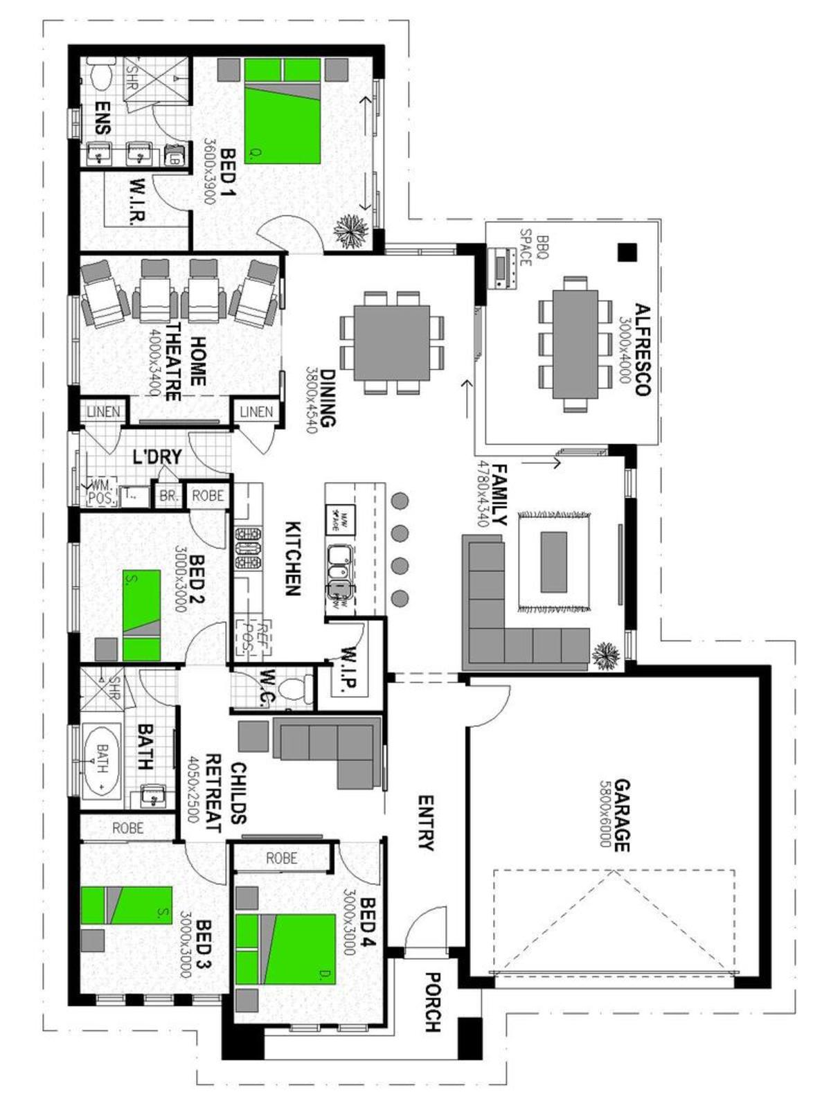 LOT 43 WARROCK PLACE BOURKELANDS Floorplan