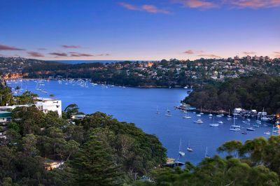 Designer peninsula sanctuary, stunning Middle Harbour backdrop