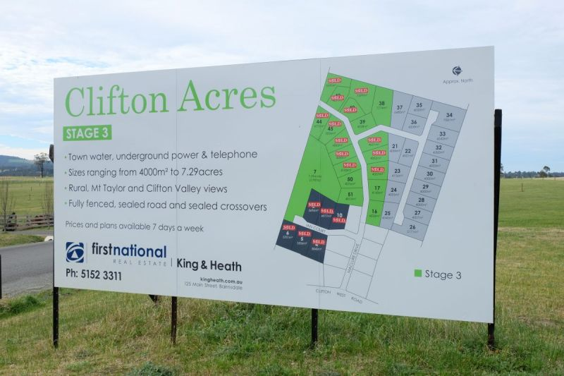 NEW LAND RELEASE - CLIFTON ACRES