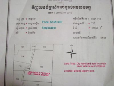 Trapeang Veaeng | Land for sale in Kandal Stueng Trapeang Veaeng img 1