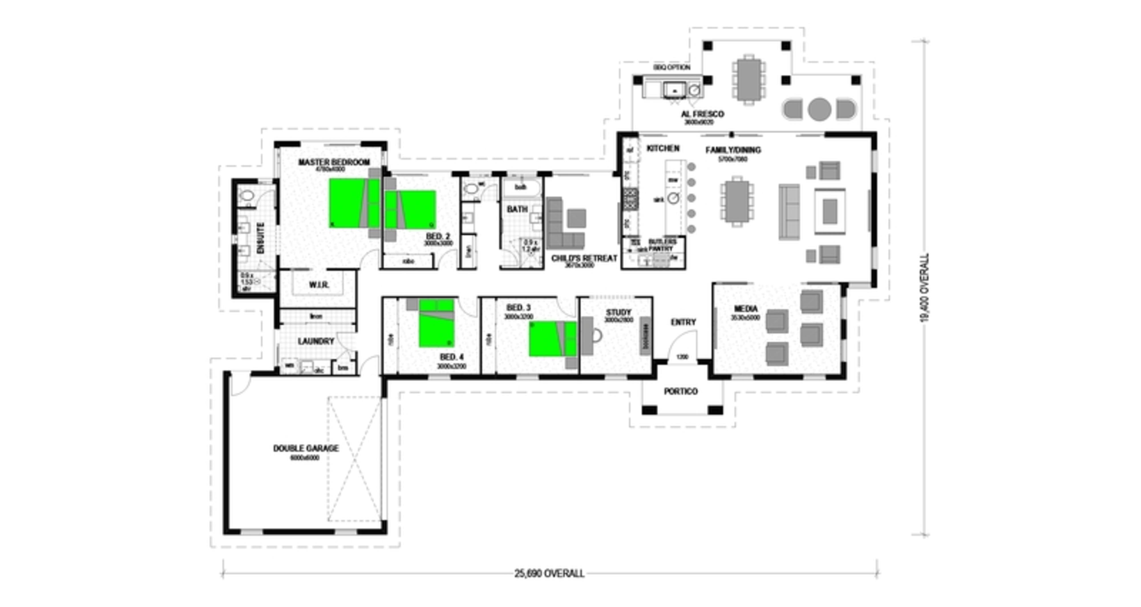 LOT 127 'FAIRWAYS ESTATE' HATTON VALE Floorplan