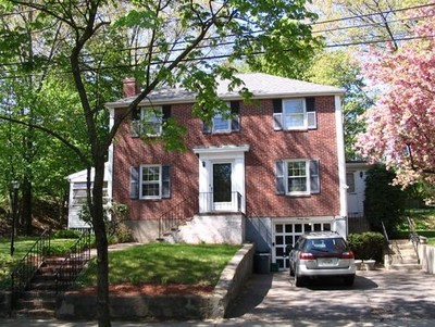 Lovely and spacious 3 bed, 2.5 bath colonial with attached garage, on a tree lined street in Newtonville