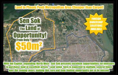 Teuk Thla, Phnom Penh   Land for sale in Sen Sok Teuk Thla img 3