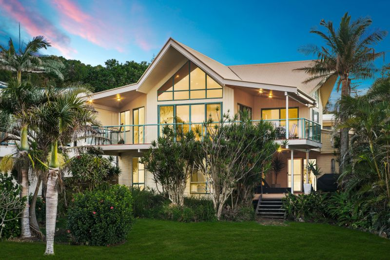 Striking beachfront home with magnificent views