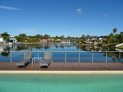 STUNNING WATERFRONT RESIDENCE WITH POOL