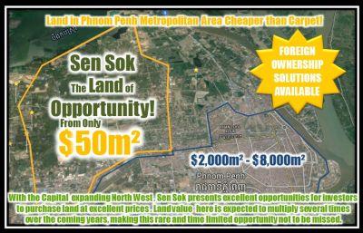 Teuk Thla, Phnom Penh   Land for sale in Sen Sok Teuk Thla img 1