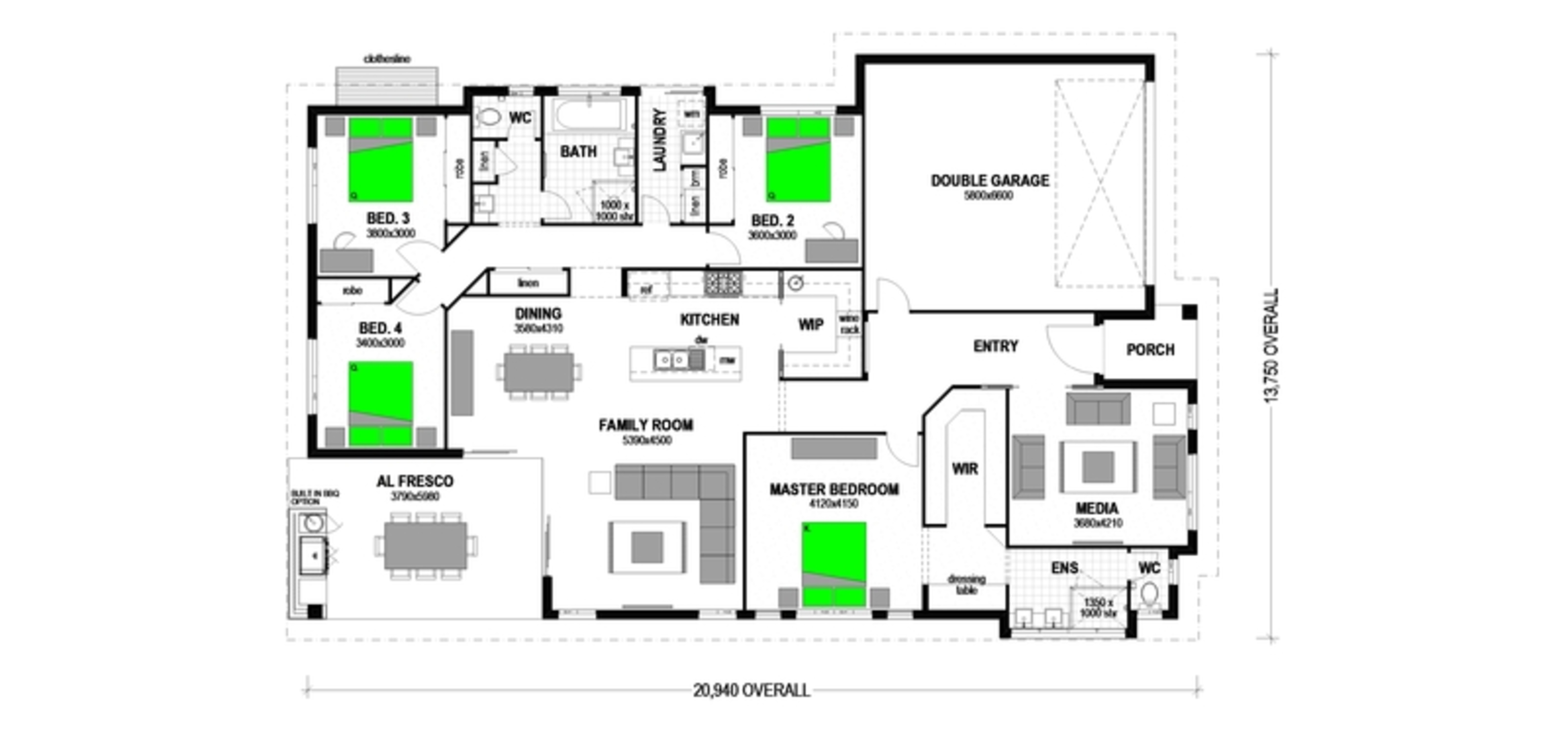 "LOT 42 ""CHILDERS SHINING"" REDRIDGE Floorplan"
