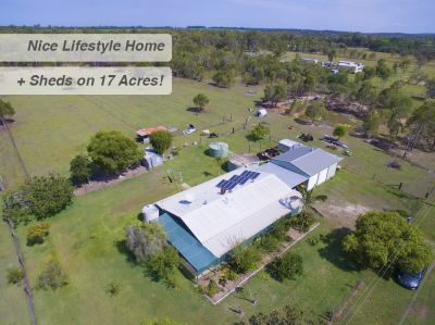 NEAT FAMILY HOME + SHEDS on 17 ACRES!!