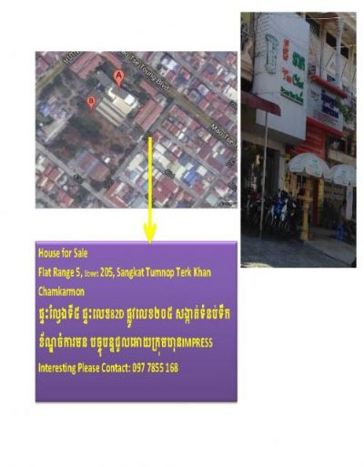 Toul Svay Prey 2 | Flat for sale in Chamkarmon Toul Svay Prey 2 img 1