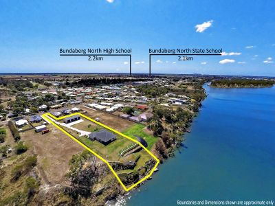 STUNNING WATERFRONT HOME + HUGE COMMERCIAL SHEDS NEAR CBD!
