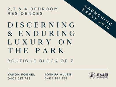 7 Brand New Apartments - Luxury On The Park