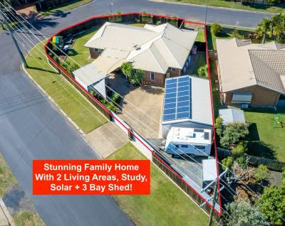 IMMACULATE HOME WITH 2 LIVING AREAS, STUDY, LARGE SHED, 4KW SOLAR & FULLY PRIVATE!