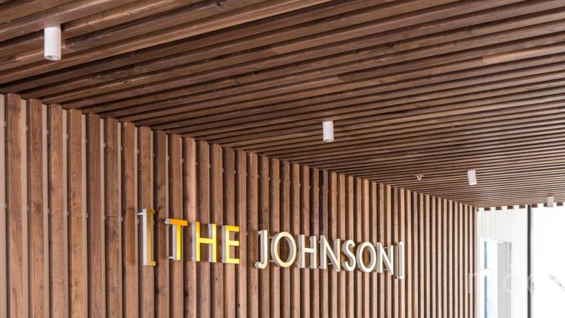 Premium ground floor corner retail space at The Johnson hotel