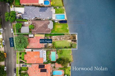 Extremely rare and substantial waterfront holding with outstanding potential to create a dream waterfront home or luxury duplex development