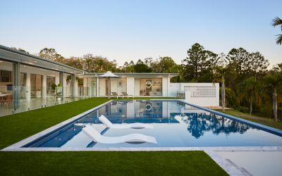 NEW PALM SPRINGS-INSPIRED ESTATE ON PRIME TALLEBUDGERA ACREAGE