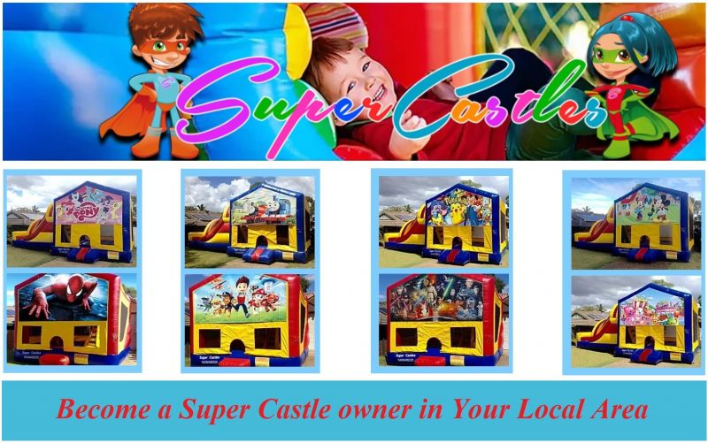 BECOME A SUPER CASTLES OWNER - 2-3 DAYS P.W. NO FRANCHISE FEES - HIGH EARNINGS