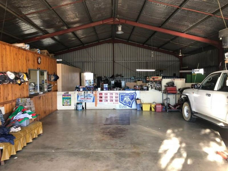 HIGHWAY FRONTAGE, RURAL AREA, ONLY AUTO ELECTRICIAN IN TOWN.