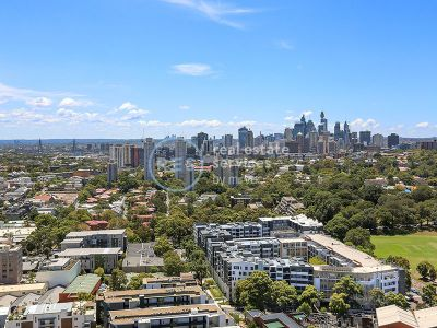 Stunning City Views from Level 24, 2-Bedroom Apartment in Ovo