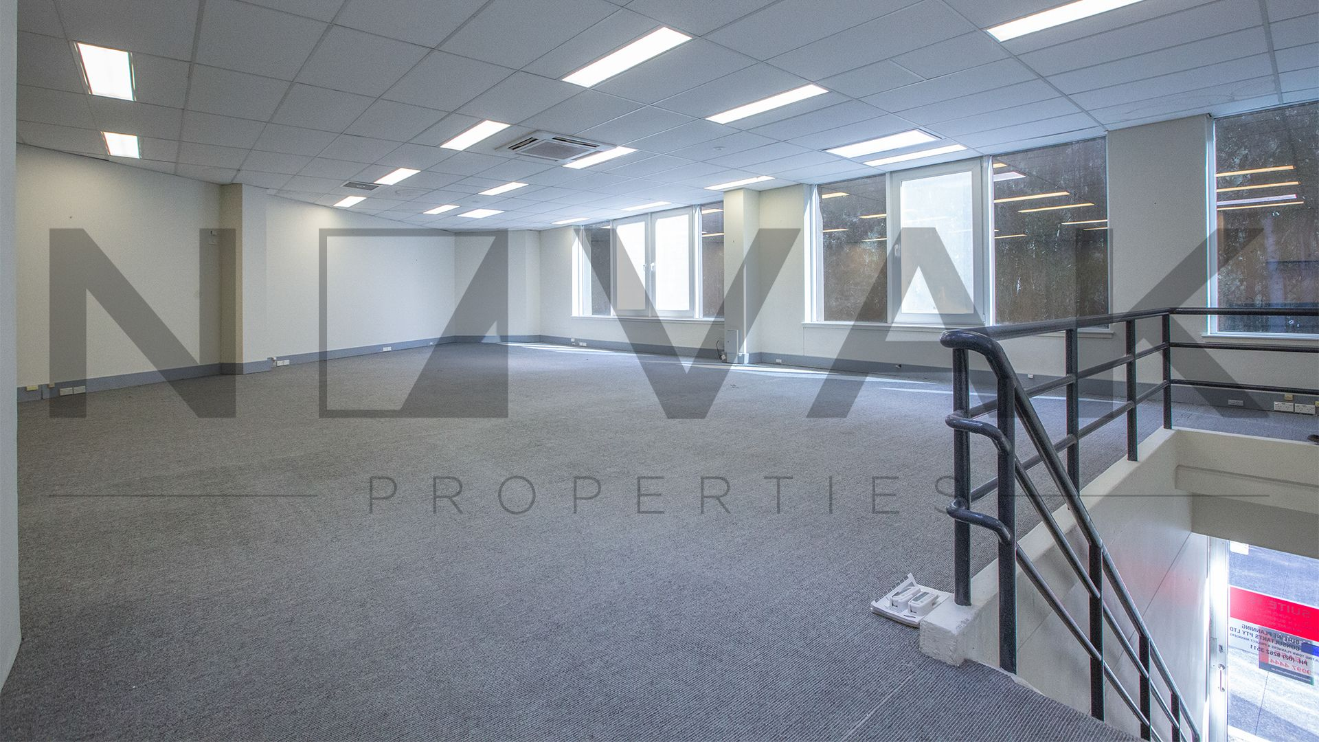 1ST FLOOR OFFICE FILLED WITH NATURAL LIGHT!