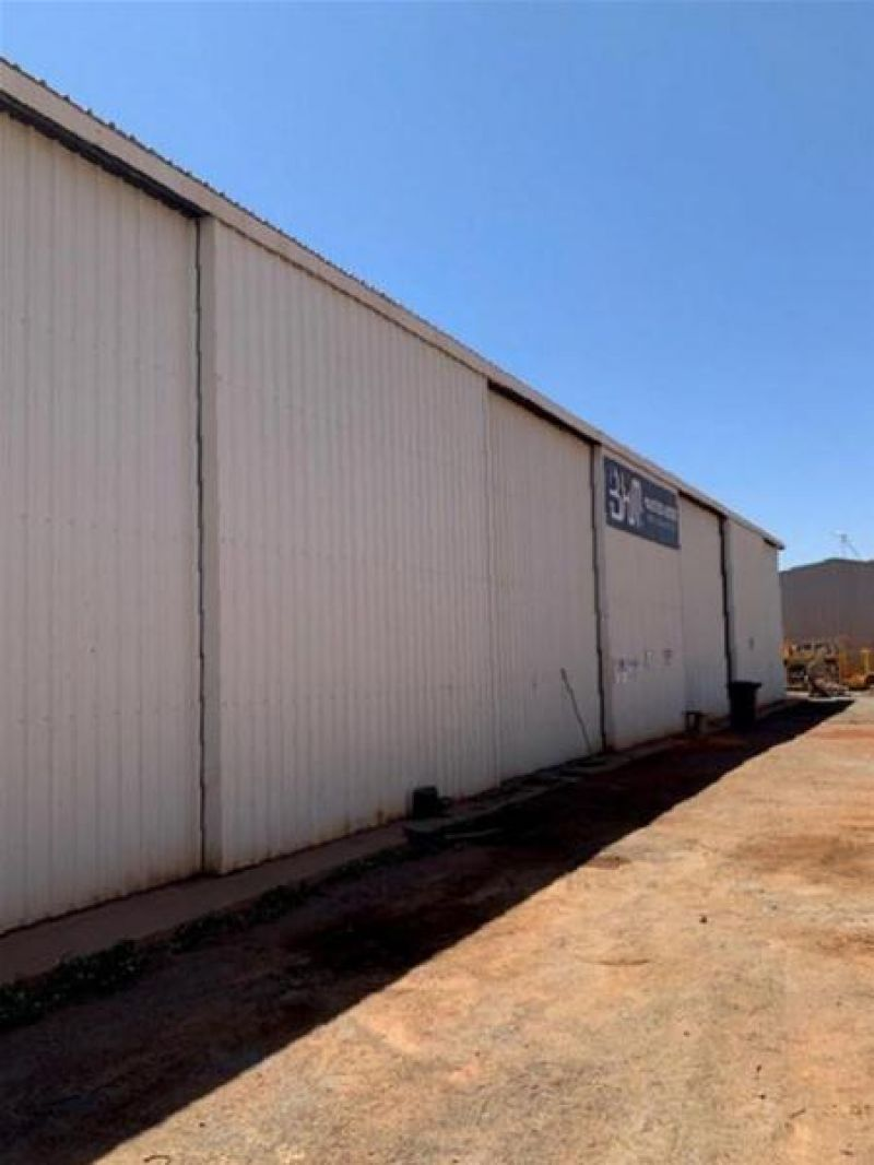 Large shed, hardstand and office
