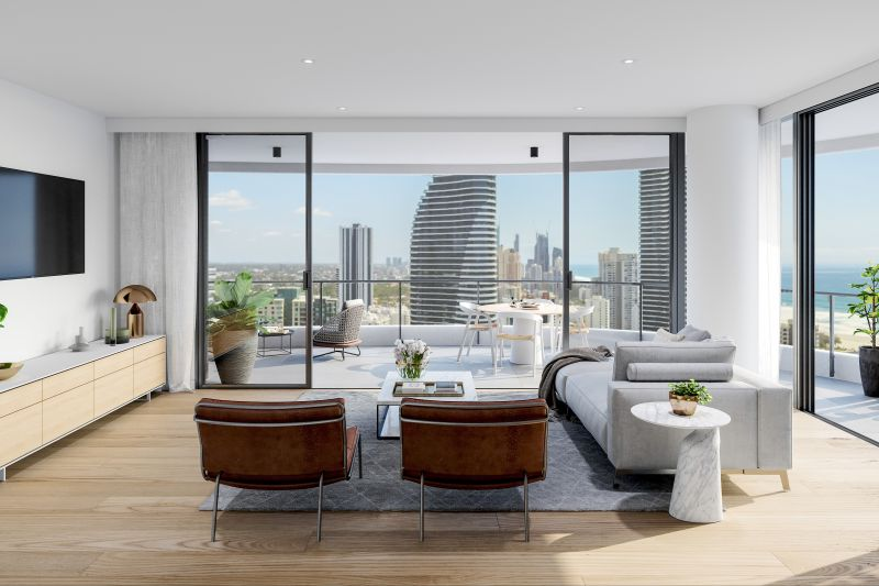 Infinity Broadbeach - Half Floor Apartments With Views of the Ocean and City