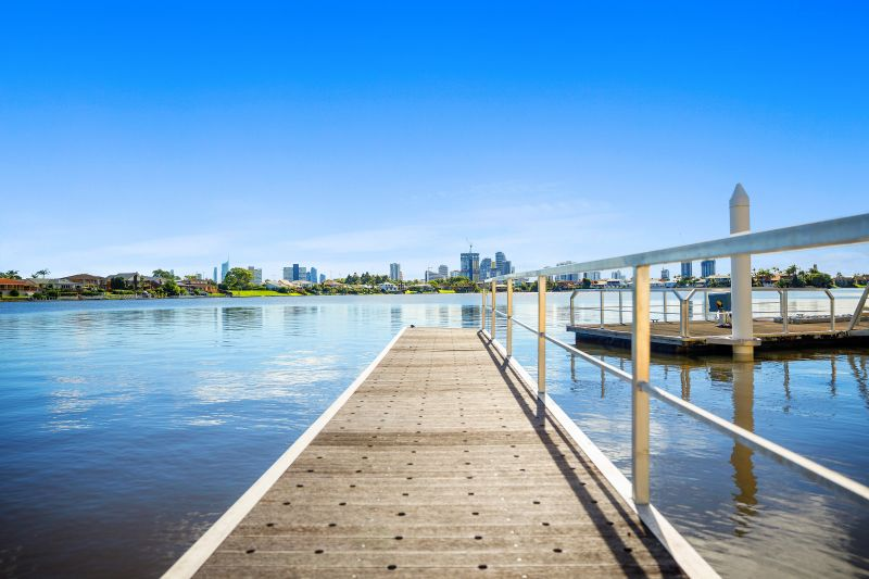 Wide Waterfront and an Iconic Gold Coast Skyline View